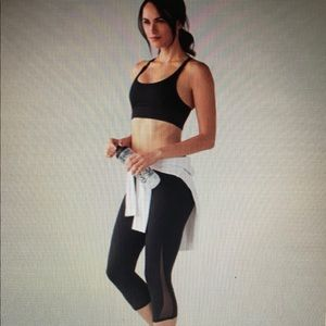 Lululemon Black Train Times Crop 17""